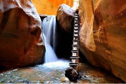 Falls Kanarra Creek Kanarraville Hike Canyon Slot