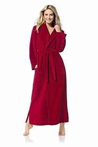 Gardinenstange Extra Lang : rode lange elegante badjas voor dames ~ Whattoseeinmadrid.com Haus und Dekorationen