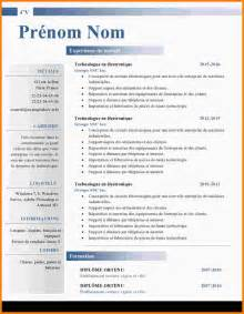 resume model in word 7 model cv word modele de lettre