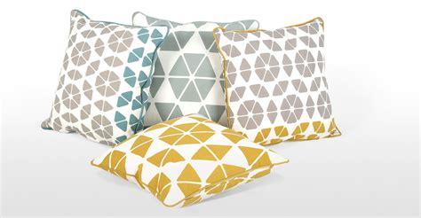 Small Trio Cushion 45 X45cm, Grey And Mustard