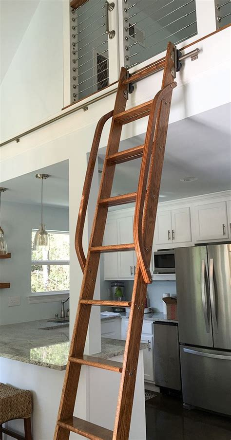 rolling library ladders images  pinterest
