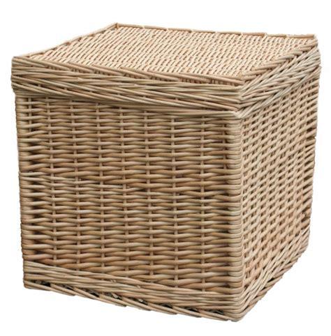 Wicker Basket Storage Cube Box & Stool