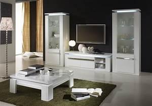 Meuble Tv Vitrine : vitrine meuble tv laqu blanc riva design tendance s jour chic ~ Teatrodelosmanantiales.com Idées de Décoration