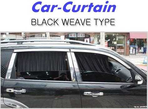 Car Window Curtain Sunshade Black Weave Type Uv Protection