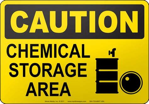 caution chemical storage area moxie training