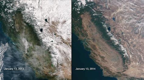 nasa california satellite images reveal worst drought