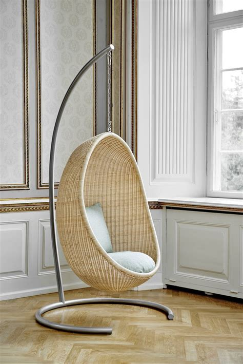 Swivel egg chair in the french midcentury style. Sika Design Nanna Ditzel Hanging Egg Chair - Sika Design USA