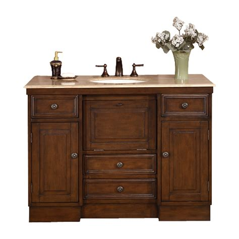 48 vanity with top and sink shop silkroad exclusive alexis walnut undermount single