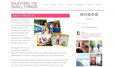 15 Examples of Mom Blogs Built with Wordpress | Elegant ...
