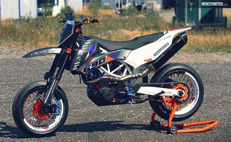 ktm smc 690 rr dario custom build supermoto