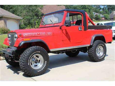 scrambler jeep years classic jeep cj8 scrambler for sale on classiccars com