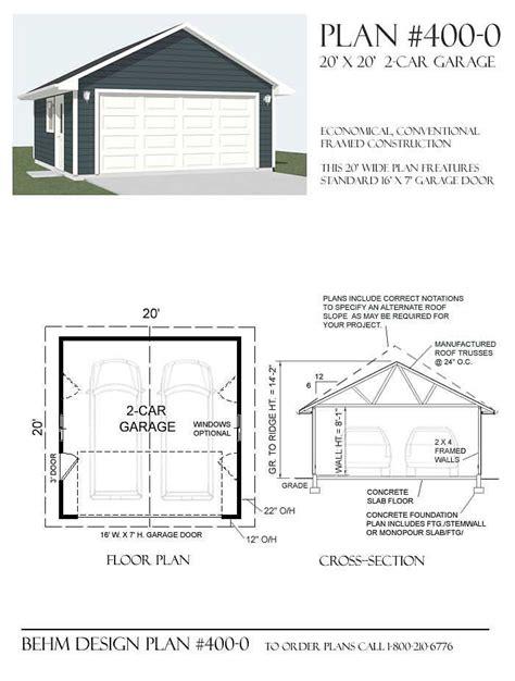 buy garage plans  behm design garage plans pinterest