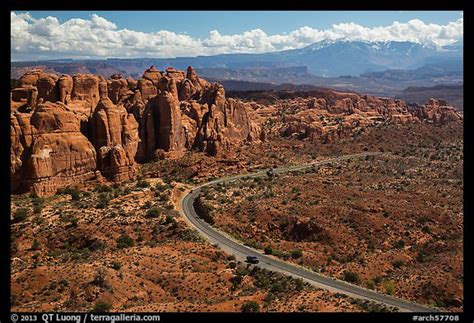 Picturephoto Scenic Road And Fiery Furnace Fins Arches