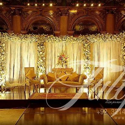 Stage Pakistani Decoration Decorations Hall Marriage Reception
