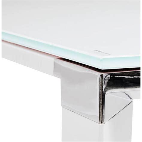 bureau verre trempe bureau d 39 angle design master en verre trempé blanc
