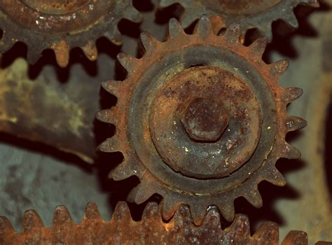 picture engine mechanism rusty  technology