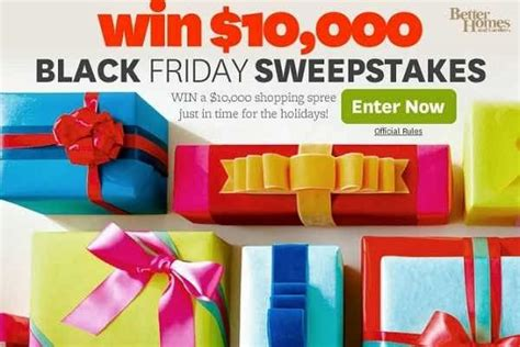 bhg win bhg win shopping spree in black friday sweepstakes
