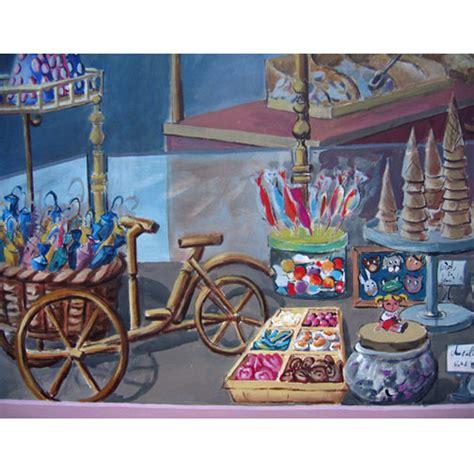 fresque murale trompe l oeil le paradis des bonbons fresque murale trompe l œil