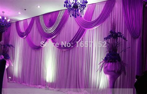 purple wedding backdrop wholesale sequins stage backdrop