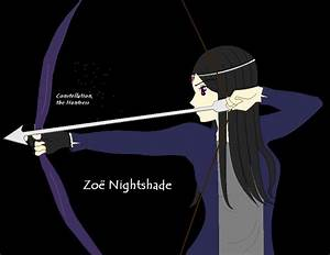 "Zoe Nightshade, the Huntress constellation. ""I can see the ..."