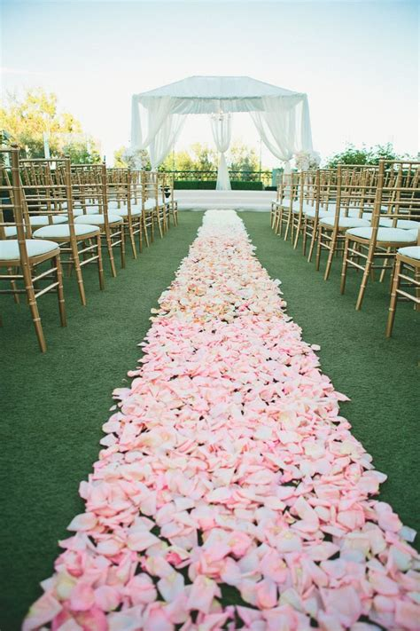 rose petal aisle ideas  pinterest flower