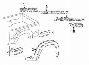 Toyota Tacoma Tailgate Emblem  Regular Cab  U0026 Access Cab  W  X