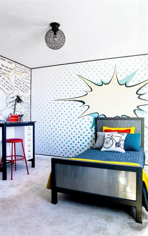 pop art bedroom   reveal paint   smile
