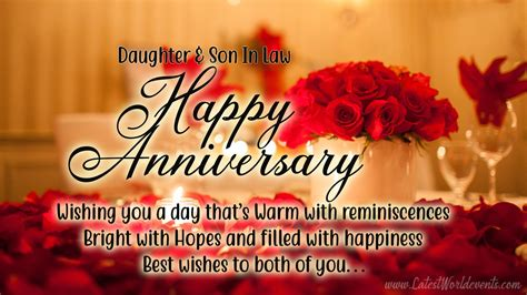 happy anniversary daughter son  law images latest