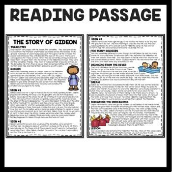story  gideon bible story reading comprehension