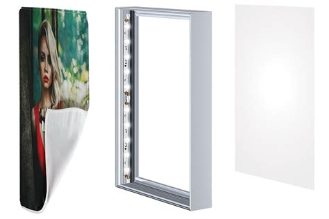 led light box frameless seg lightbox for backlit signage 40 visuals