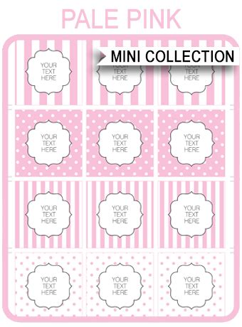 pink baby shower printable templates