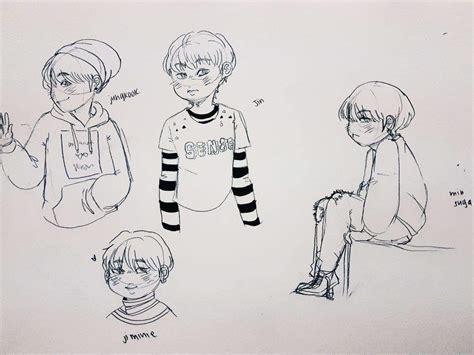 Chibi Bts Sketches! 💞