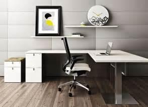 White L Shaped Desk - Contemporary Office Desk