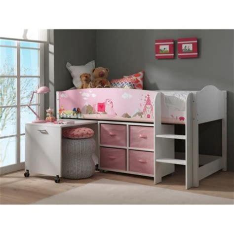 lit bureau fille decoration et mobilier chambre de fille baldaquin lit