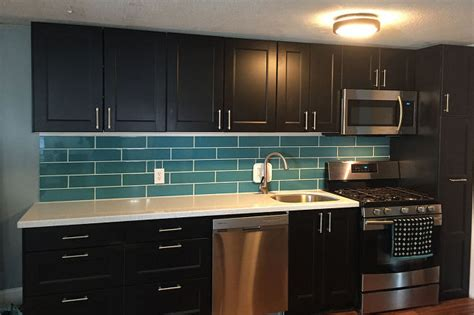 turquoise subway tile backsplash hometalk
