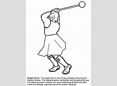 Weightthrow Scotland Coloring Pages coloring page & book