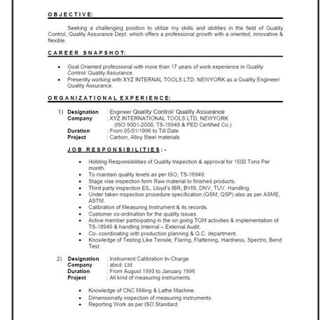 mechanical engineering resume format sradd me