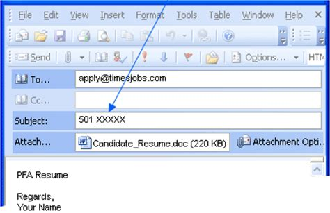 Timesjobs Resume by On Email