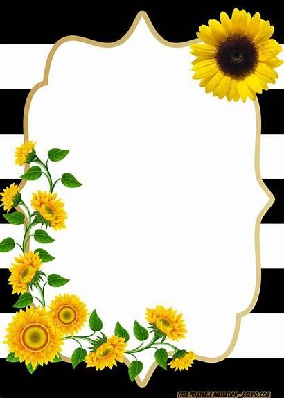 Invitation Templates Birthday Sunflower Printable Invitations Shower