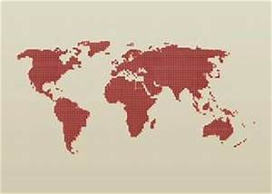 Dotted World Map, Vector - 365PSD.com