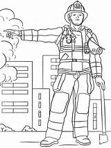Firefighter Coloring Fireman Pages Printable Template Fire Professions Colouring Drawing Female Dot Lesson Duty Templates Mycoloring Department Printables Children sketch template