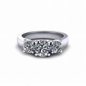 round three stone engagement ring jewelry designs With stone wedding rings