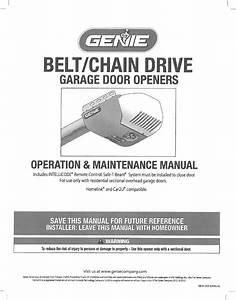 Genie Intellicode Garage Door Opener Installation Manual