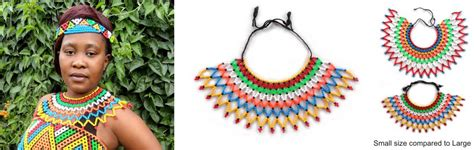 zulu womans necklace small