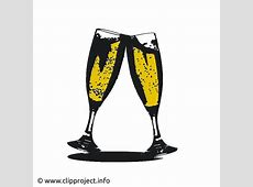 Gläser mit Sekt ClipartBild