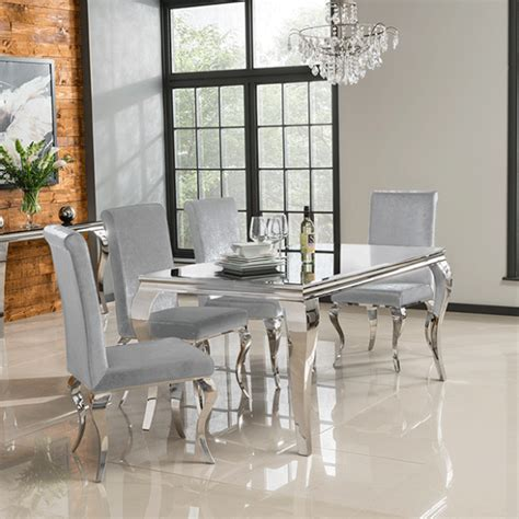 Glamour Dining Table & 6 Chairs  Vine Mill Furniture