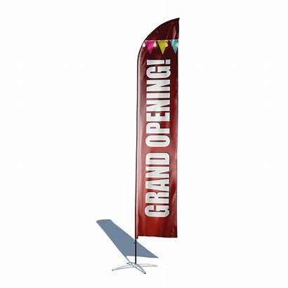Opening Flag Grand Feather 12ft