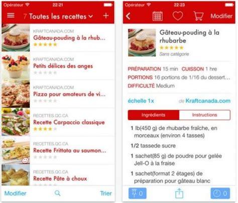 application recette de cuisine dossier gourmand plus de 18 applis de recettes de