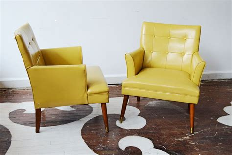 Stylish Pair Of Slim-proportioned Mid-century Armchairs