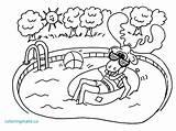Suit Bathing Coloring Swimming Sheets Getcolorings Printable Getdrawings sketch template
